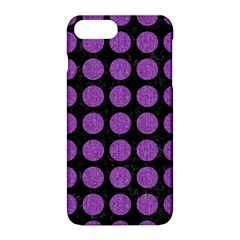 Circles1 Black Marble & Purple Denim (r) Apple Iphone 8 Plus Hardshell Case by trendistuff