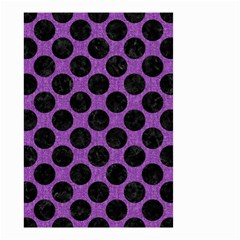 Circles2 Black Marble & Purple Denim Small Garden Flag (two Sides) by trendistuff