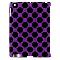 Circles2 Black Marble & Purple Denim Apple Ipad 3/4 Hardshell Case (compatible With Smart Cover) by trendistuff