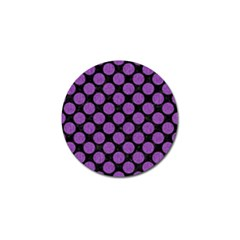 Circles2 Black Marble & Purple Denim (r) Golf Ball Marker (4 Pack) by trendistuff