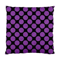 Circles2 Black Marble & Purple Denim (r) Standard Cushion Case (two Sides) by trendistuff