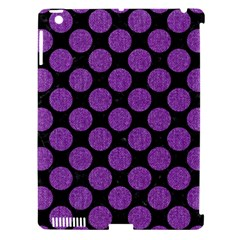 Circles2 Black Marble & Purple Denim (r) Apple Ipad 3/4 Hardshell Case (compatible With Smart Cover) by trendistuff