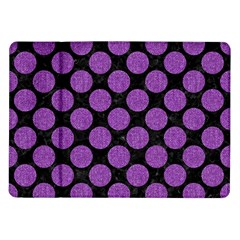 Circles2 Black Marble & Purple Denim (r) Samsung Galaxy Tab 10 1  P7500 Flip Case by trendistuff