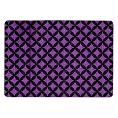 Circles3 Black Marble & Purple Denim Samsung Galaxy Tab 10 1  P7500 Flip Case by trendistuff