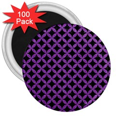 Circles3 Black Marble & Purple Denim (r) 3  Magnets (100 Pack) by trendistuff