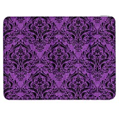 Damask1 Black Marble & Purple Denim Samsung Galaxy Tab 7  P1000 Flip Case by trendistuff