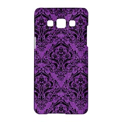 Damask1 Black Marble & Purple Denim Samsung Galaxy A5 Hardshell Case  by trendistuff