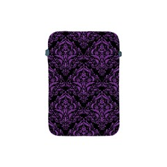 Damask1 Black Marble & Purple Denim (r) Apple Ipad Mini Protective Soft Cases by trendistuff