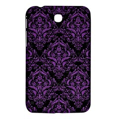 Damask1 Black Marble & Purple Denim (r) Samsung Galaxy Tab 3 (7 ) P3200 Hardshell Case  by trendistuff