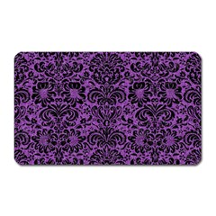 Damask2 Black Marble & Purple Denim Magnet (rectangular) by trendistuff