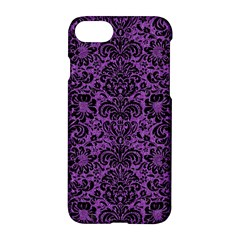 Damask2 Black Marble & Purple Denim Apple Iphone 7 Hardshell Case by trendistuff
