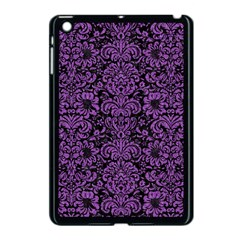 Damask2 Black Marble & Purple Denim (r) Apple Ipad Mini Case (black)