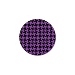 Houndstooth1 Black Marble & Purple Denim Golf Ball Marker (4 Pack) by trendistuff