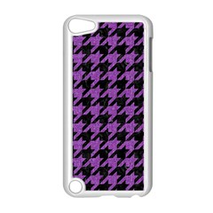 Houndstooth1 Black Marble & Purple Denim Apple Ipod Touch 5 Case (white) by trendistuff
