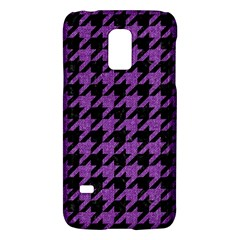 Houndstooth1 Black Marble & Purple Denim Galaxy S5 Mini by trendistuff