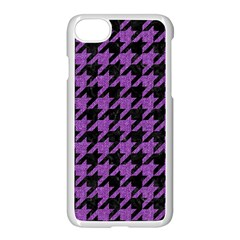 Houndstooth1 Black Marble & Purple Denim Apple Iphone 8 Seamless Case (white) by trendistuff
