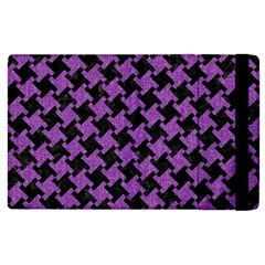 Houndstooth2 Black Marble & Purple Denim Apple Ipad 3/4 Flip Case by trendistuff