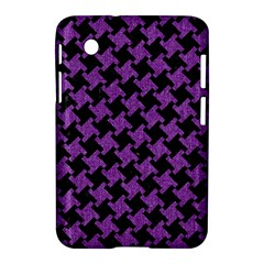Houndstooth2 Black Marble & Purple Denim Samsung Galaxy Tab 2 (7 ) P3100 Hardshell Case  by trendistuff