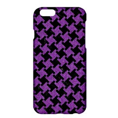 Houndstooth2 Black Marble & Purple Denim Apple Iphone 6 Plus/6s Plus Hardshell Case by trendistuff