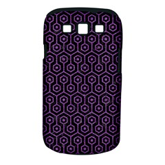 Hexagon1 Black Marble & Purple Denim (r) Samsung Galaxy S Iii Classic Hardshell Case (pc+silicone) by trendistuff