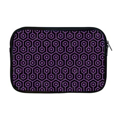 Hexagon1 Black Marble & Purple Denim (r) Apple Macbook Pro 17  Zipper Case by trendistuff