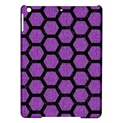 Hexagon2 Black Marble & Purple Denim Ipad Air Hardshell Cases by trendistuff