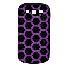 Hexagon2 Black Marble & Purple Denim (r) Samsung Galaxy S Iii Classic Hardshell Case (pc+silicone) by trendistuff
