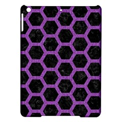 Hexagon2 Black Marble & Purple Denim (r) Ipad Air Hardshell Cases