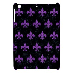 Royal1 Black Marble & Purple Denim Apple Ipad Mini Hardshell Case by trendistuff