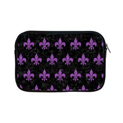 Royal1 Black Marble & Purple Denim Apple Ipad Mini Zipper Cases by trendistuff