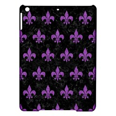 Royal1 Black Marble & Purple Denim Ipad Air Hardshell Cases
