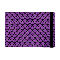 Scales1 Black Marble & Purple Denim Apple Ipad Mini Flip Case by trendistuff