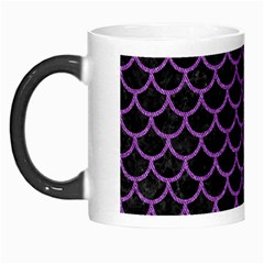 Scales1 Black Marble & Purple Denim (r) Morph Mugs by trendistuff