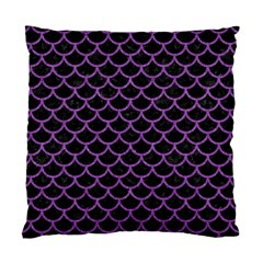 Scales1 Black Marble & Purple Denim (r) Standard Cushion Case (two Sides) by trendistuff