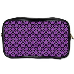 Scales2 Black Marble & Purple Denim Toiletries Bags by trendistuff