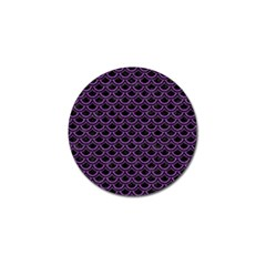 Scales2 Black Marble & Purple Denim (r) Golf Ball Marker (10 Pack) by trendistuff