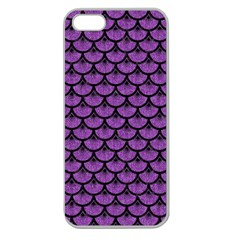 Scales3 Black Marble & Purple Denim Apple Seamless Iphone 5 Case (clear) by trendistuff