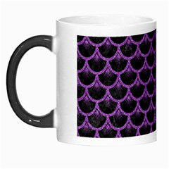 Scales3 Black Marble & Purple Denim (r) Morph Mugs by trendistuff