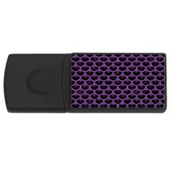 Scales3 Black Marble & Purple Denim (r) Rectangular Usb Flash Drive by trendistuff