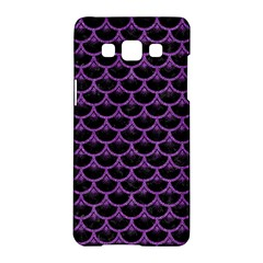Scales3 Black Marble & Purple Denim (r) Samsung Galaxy A5 Hardshell Case  by trendistuff
