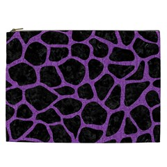 Skin1 Black Marble & Purple Denim Cosmetic Bag (xxl)  by trendistuff
