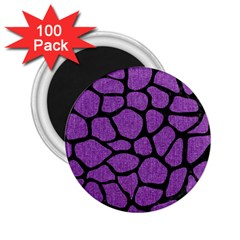Skin1 Black Marble & Purple Denim (r) 2 25  Magnets (100 Pack)  by trendistuff