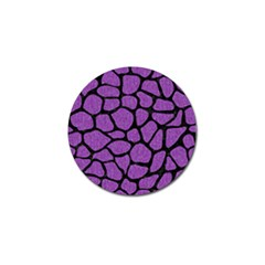Skin1 Black Marble & Purple Denim (r) Golf Ball Marker by trendistuff