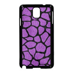 Skin1 Black Marble & Purple Denim (r) Samsung Galaxy Note 3 Neo Hardshell Case (black) by trendistuff