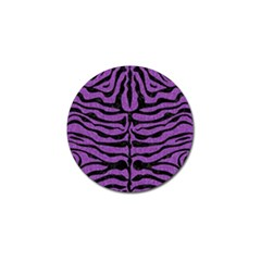 Skin2 Black Marble & Purple Denim Golf Ball Marker by trendistuff