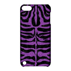 Skin2 Black Marble & Purple Denim (r) Apple Ipod Touch 5 Hardshell Case With Stand by trendistuff