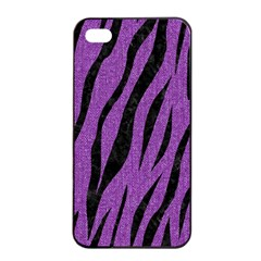 Skin3 Black Marble & Purple Denim Apple Iphone 4/4s Seamless Case (black) by trendistuff