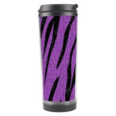 Skin3 Black Marble & Purple Denim Travel Tumbler by trendistuff