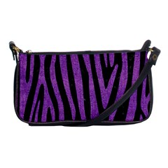 Skin4 Black Marble & Purple Denim Shoulder Clutch Bags by trendistuff