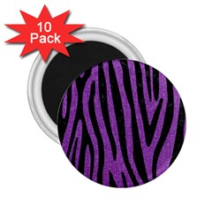 Skin4 Black Marble & Purple Denim (r) 2 25  Magnets (10 Pack)  by trendistuff